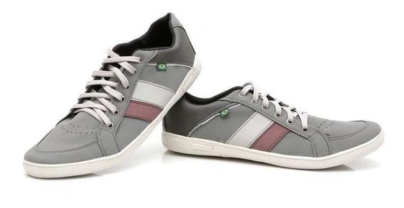 Sapatenis Sapato Masculino Casual Couro Ecológico Preto