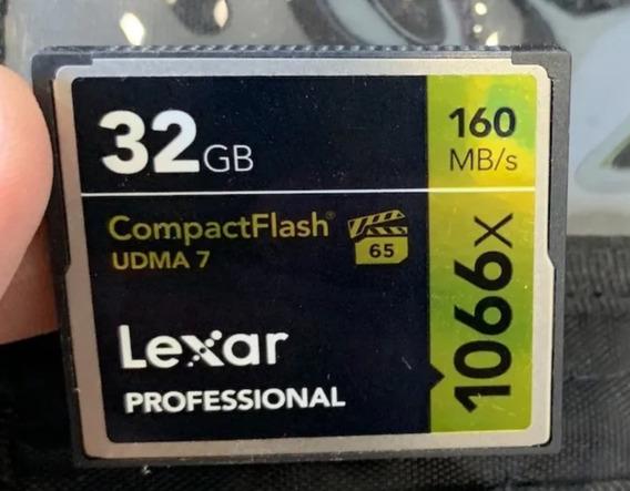Cartão Compact Flash Lexar Profissional 1066x 160mb/s 32gb