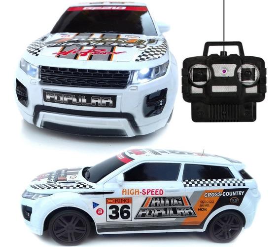 Carro Carrinho Controle Remoto Land Rover Acende Farol 4ch