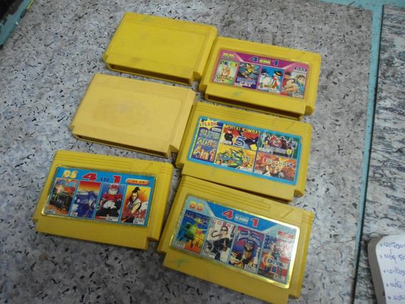 6 Cartuchos Antigos De Video Game