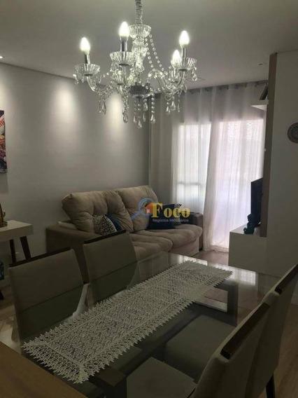 Apartamento Com 2 Dormitórios À Venda, 57 M² Por R$ 315.000 - Loteamento Santo Antônio - Itatiba/sp - Ap0415