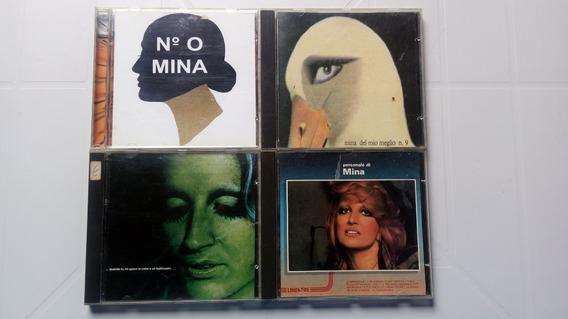 Mina Cantora Italiana Coleção Com 4 Cds Importados
