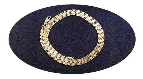 Imagen 1 de 8 de Cadena Collar Oro 18k Hombre Mujer Hip-hop Elegante 28p.