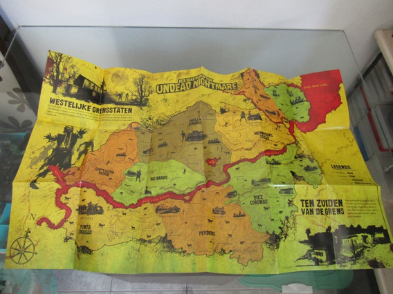 Mapa Red Dead Redemption Undead Nightmare - Ps3
