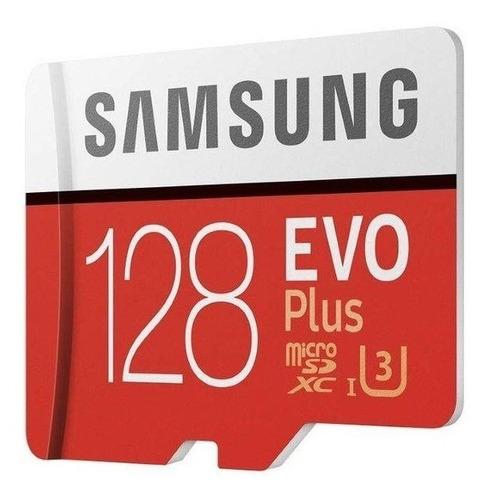 Cartão Samsung Micro Sd Evo Plus 128gb Sdxc U3 4k+ Adaptador