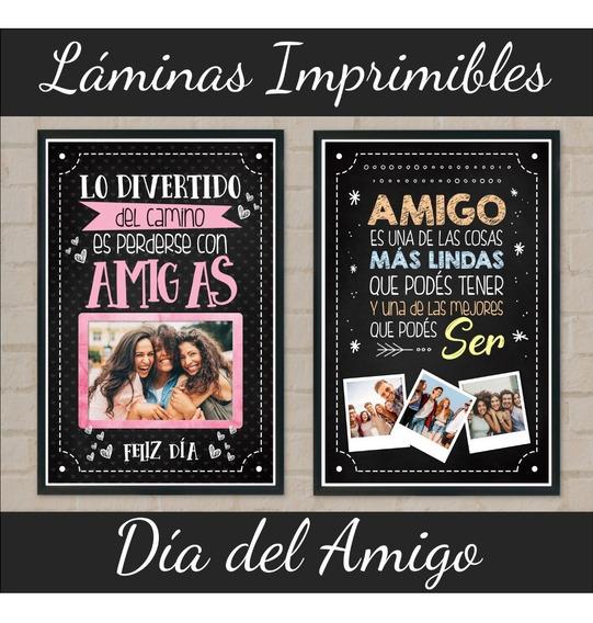 Kit Imprimible Láminas Día Del Amigo Cuadros Tarjeta Virtual