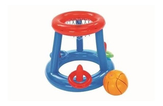 Set Inflable Juego Basketball Flotante Basquet Bestway