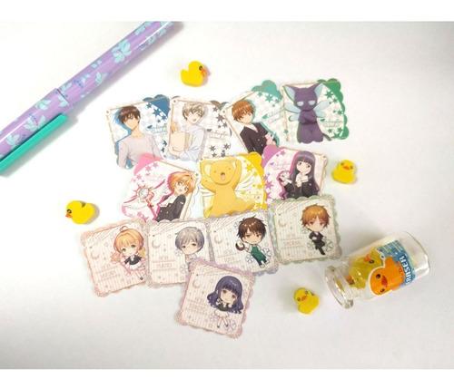 Set De 12 Stickers Card Captor Sakura Kero Shaoran