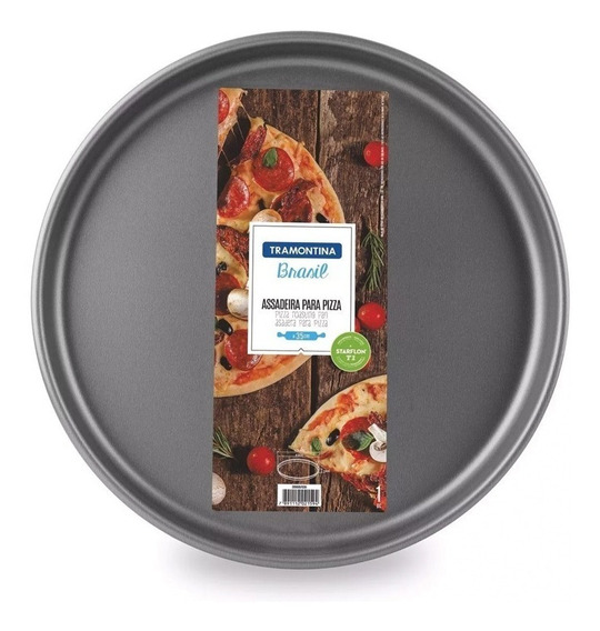 Pizzera Tramontina Molde P/ Pizza Antiadherente Teflon 35 Cm