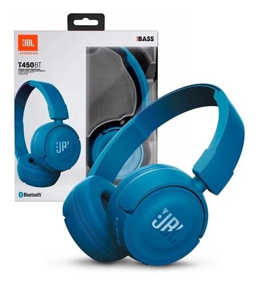 Fone De Ouvido Bluetooth Jbl T450bt Azul