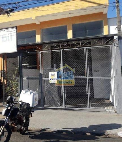 Imagem 1 de 12 de Salão Para Alugar, 110 M² Por R$ 3.000,00/mês - Jardim Santa Rita De Cássia - Hortolândia/sp - Sl1080