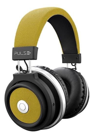 Fone De Ouvido Headphone Bluetooth Pulse Ph233 Large Amarelo