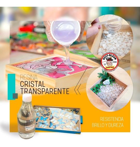 Resina Epoxi Cristal Artesanías 1kg . Vidrio Líquido.