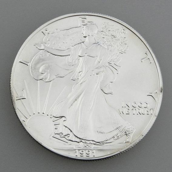 Onza De Plata 999 Estados Unidos 1991