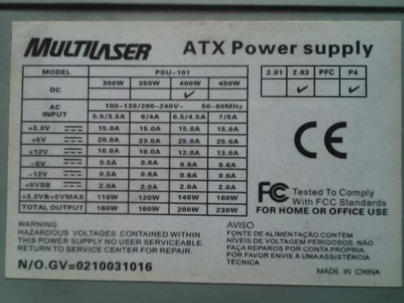 Fonte Atx 24 Pinos C/ Sata Psu-101 50-60hz 230w 53
