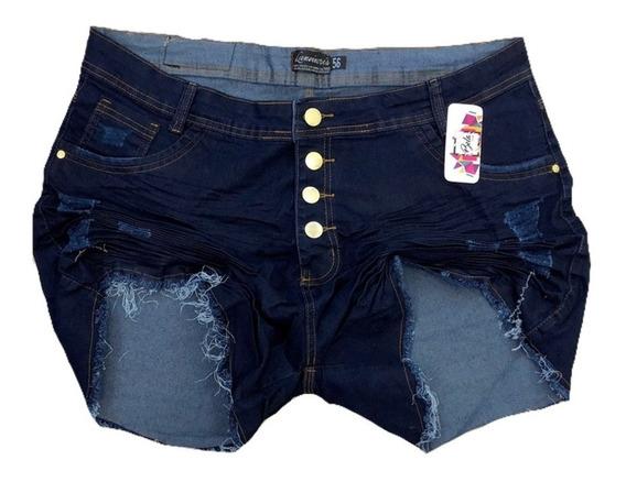 Short Jeans Plus Size Com Lycra Hot Pants 44/58 Moda