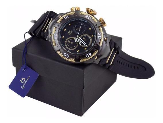 Relógio Masculino Original Aço Grande Pesado + Caixa