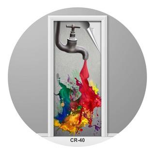 Adesivo Para Porta Ateliê Pintura Ideias Criativo Cr-40