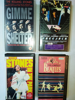 Lote 7 Vhs Peliculas Rolling Stones Freejack Voodo Gimme