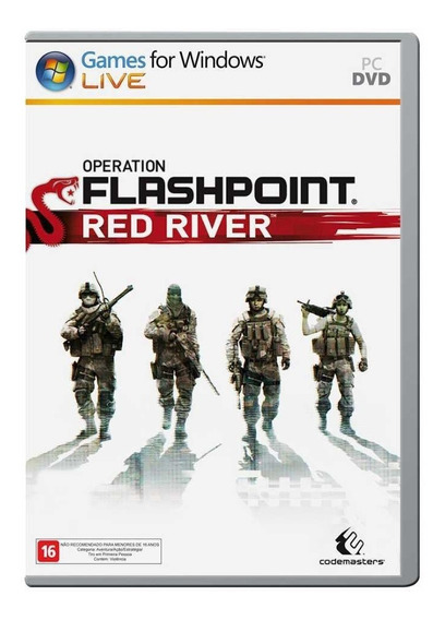 Jogo Novo Midia Fisica Operation Flashpoint Red River Pra Pc