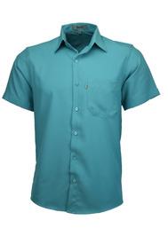 Camisa Microleve Manga Curta - Verde Turqueza - Ref 440