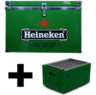 Kit Caixa Termica 50 Litros + Churrasqueira Presente Cerveja