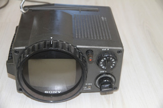 Tv Antiga Sony Mod Tv-511 Camping Anos 70 Funcinando