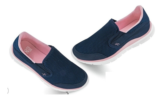Tenis Sneakers Casual Dama Mujer Slip On Confort Comodo Text