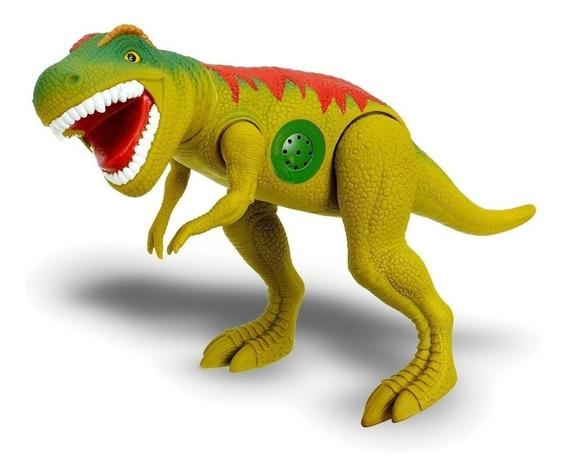 Dinossauro Tirano Rex 43cm Emite Som - Adijomar Brinquedos