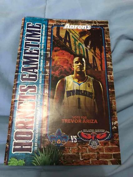 Revista New Orleans Hornets Gametime - Jogo Vs Atlanta Hawks