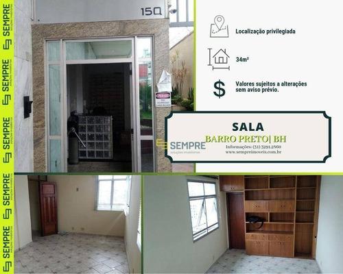 Imagem 1 de 16 de Sala Para Alugar, 34 M² E 01 Vaga - Barro Preto - Belo Horizonte/mg - Sa0093