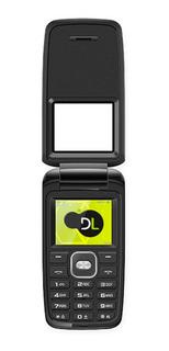 Celular Fácil De Usar Idosos Dl Yc-330 Preto 2 Chips Fm Foto