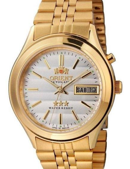 Relógio Orient Masculino Dourado Automatico