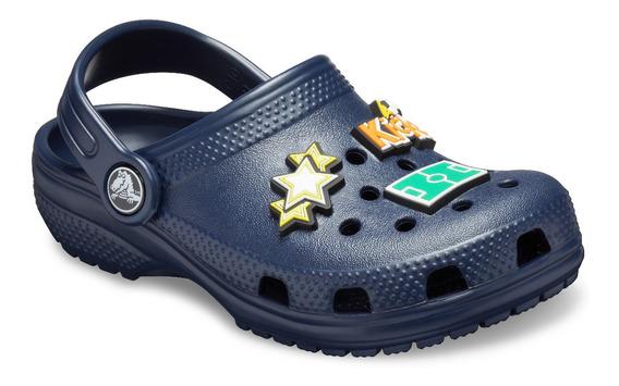 Zapato Crocs Infantil Classic Charm Clog Azul