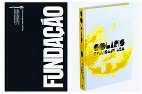 Box Trilogia Fundação Isaac Asimov + Solaris Capa Dura Novos
