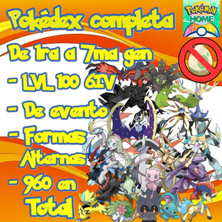 960 Pokemon - Pokemon Home Pokedex Completa 6iv Gen 1-7