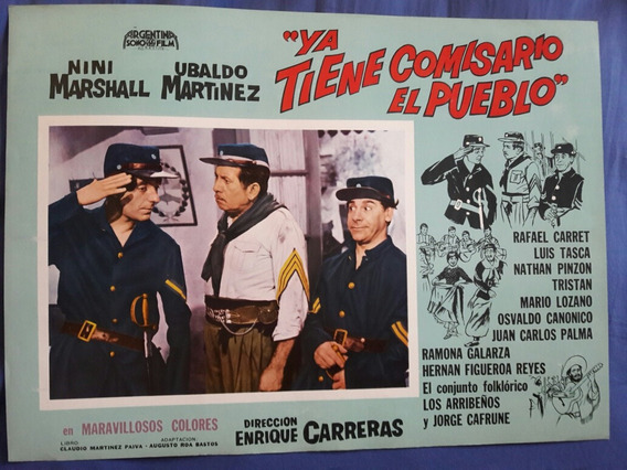 Afiche De La Película Ya Tiene Comisario El Pueblo Año 1967