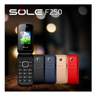 Celular Sole F250 Dual Sim Tapita Camara Radio Fm Mp3 Micro