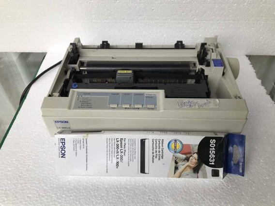 Impressora Matricial Epson Lx300+ii Liga + Cartucho Gratiz