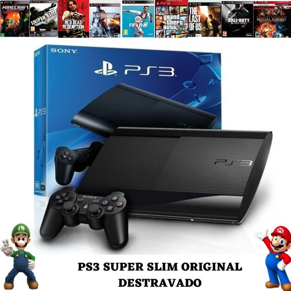 Playstation 3 Desbloqueado Ps3 Destravado Com Jogos E Loja