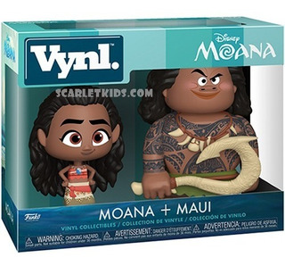 Funko Moana + Maui Vynl Disney Original Funko Scarlet Kids