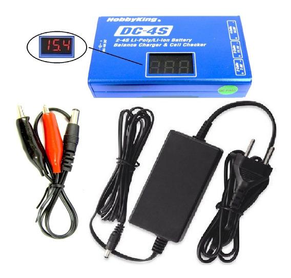 Dc4s Carregador Digital + Fonte P/ Bater. Lipo E Li-ion
