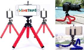 Mini Tripe Flexível Câmeras E Celulares Suporte Universal