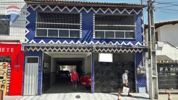 Casa Duplex Com Ponto Comercial No Alvaro Weyne Em Frente Ao Crio - Ca0178