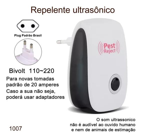 3pc Repelente Eletrônico Ultrassônico Espanta Ratos Insetos
