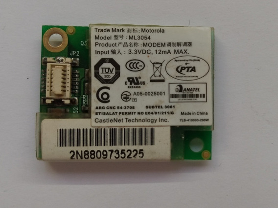 Placa Modem Ml3054 Motorola (ml01)