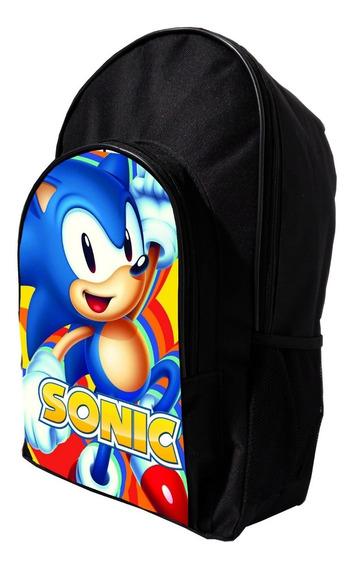Mochila De Sonic Reforzada Marios Bros Fortnite Fnaf Bendy +