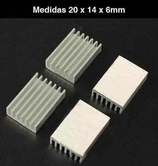 Disipador Aluminio 20x14x6mm Arduino Raspberry Led Plata