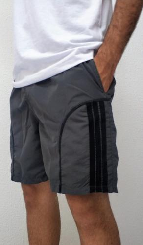 Imagem 1 de 10 de Kit 3 Bermuda Elástico Short Academia Masculino Caminhada