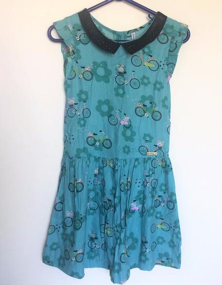Vestido Infantil Alphabeto Girls Estampas Bicicleta Tam.10a